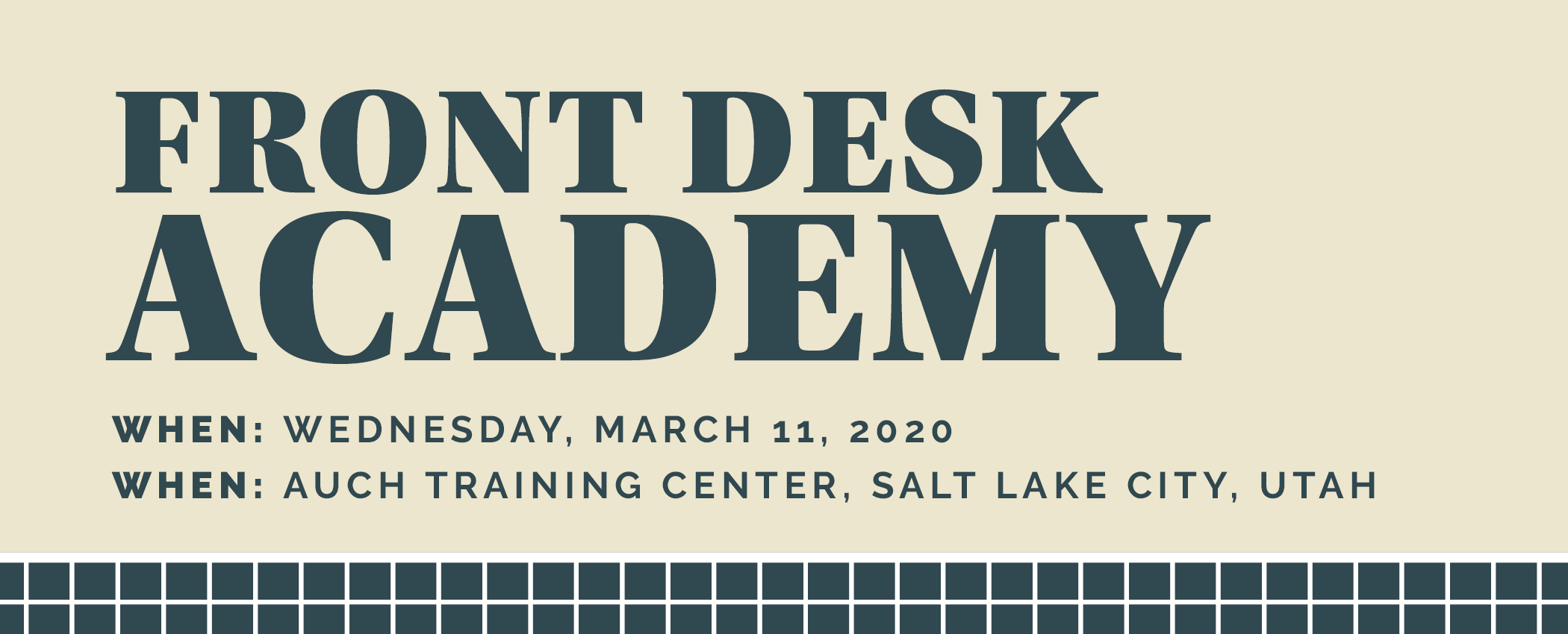 Front Desk Academy